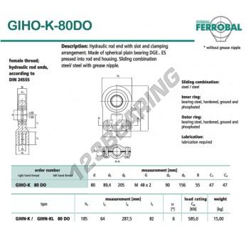DGIHO-K-80DO-DURBAL - 80x205x47 mm