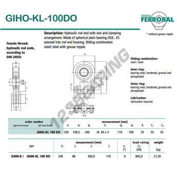 DGIHO-KL-100DO-DURBAL - 100x240x55 mm