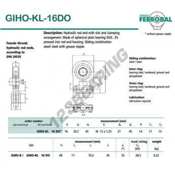 GIHO-KL-16DO-DURBAL - 16x45x11 mm