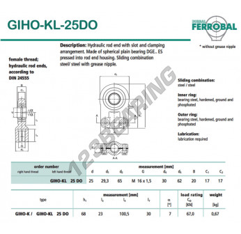 DGIHO-KL-25DO-DURBAL - 25x65x17 mm
