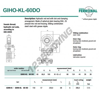 DGIHO-KL-60DO-DURBAL - 60x160x38 mm