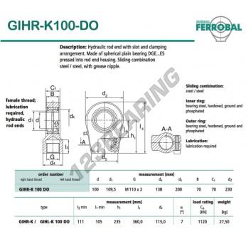 GIHR-K100-DO-DURBAL - 100x230x70 mm