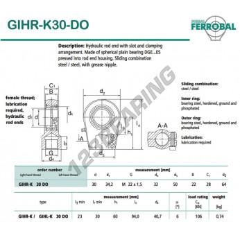 GIHR-K30-DO-DURBAL - 30x64x28 mm