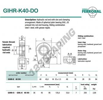 GIHR-K40-DO-DURBAL - 40x94x35 mm