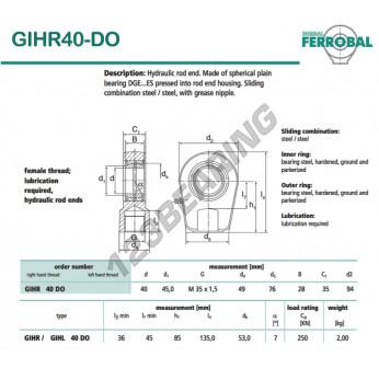 DGIHR40-DO-DURBAL - 40x94x35 mm