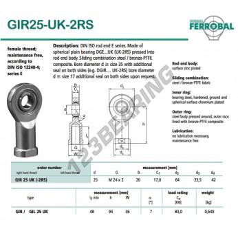 GIR25-UK-2RS-DURBAL