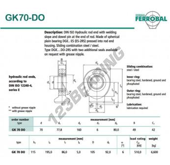 DGK70-DO-DURBAL - 70x160x49 mm