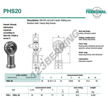 DPHS20-DURBAL - 20x50x25 mm