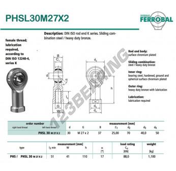 DPHSL30M27X2-DURBAL - 30x70x37 mm