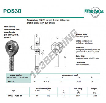 DPOS30-DURBAL - x30 mm