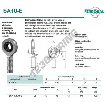 DSA10-E-DURBAL - x10 mm