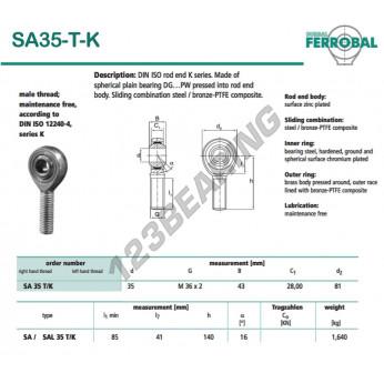DSA35-T-K-DURBAL - x35 mm