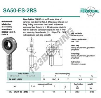 DSA50-ES-2RS-DURBAL - x50 mm