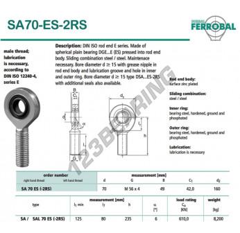 DSA70-ES-2RS-DURBAL - x70 mm