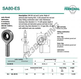 DSA80-ES-DURBAL - x80 mm