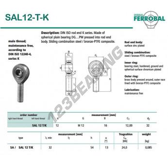 DSAL12-T-K-DURBAL - x12 mm
