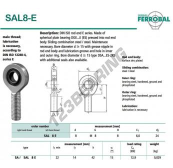 SAL8-E-DURBAL - x8 mm