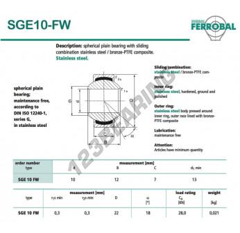 DSGE10-FW-DURBAL - 10x22x7 mm