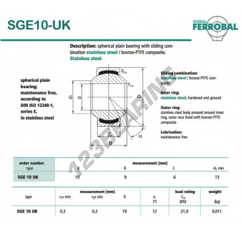 DSGE10-UK-DURBAL - 10x19x6 mm