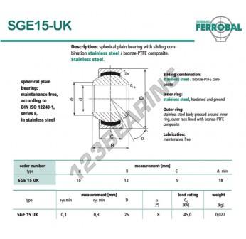 SGE15-UK-DURBAL - 15x26x9 mm