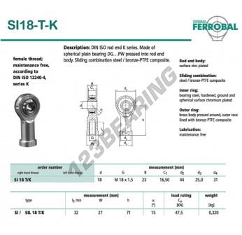 SI18-T-K-DURBAL - 18x44x23 mm