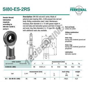 DSI80-ES-2RS-DURBAL