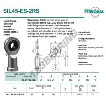 DSIL45-ES-2RS-DURBAL
