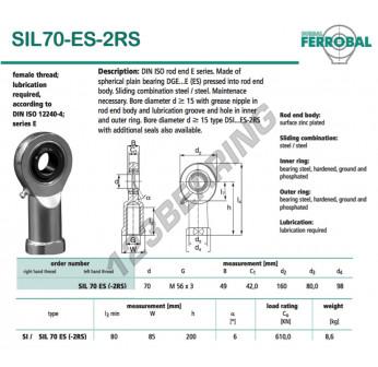 SIL70-ES-2RS-DURBAL